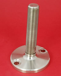 Adjustable Levelling feet - All stainless with 30mm  diam. stem Heavy Duty 7000kg