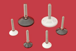 Adjustable Levelling feet - 20mm diam. stem with plastic base