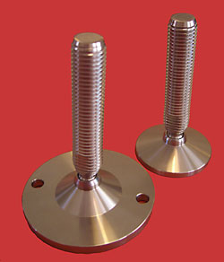 Adjustable Levelling feet - All stainless with 20mm diam. stem